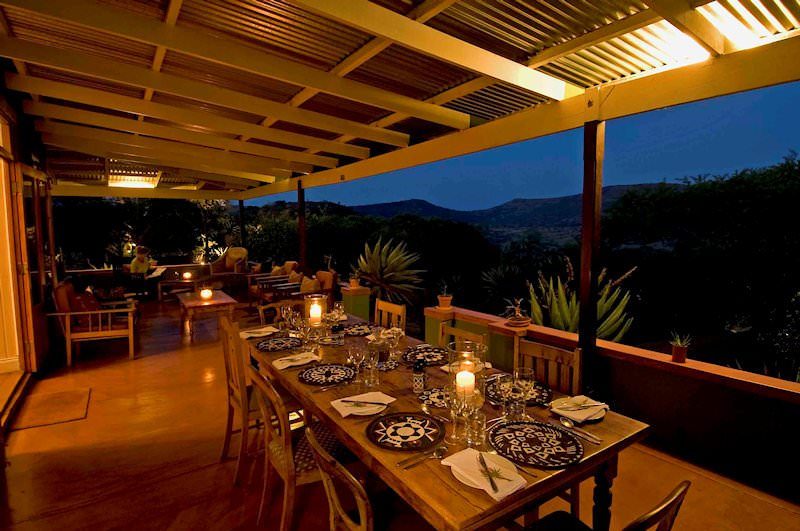 A candlelit dinner at Three Tree Hill Lodge.