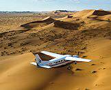 Charter flights are the primary mode of transport to distant lodges in Sossusvlei.
