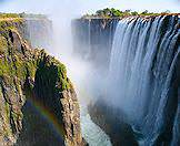 A viewpoint on the Zambian side of the Victoria Falls.