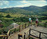 Guests enjoy the views from Hilltop Camp in the Hluhluwe-iMfolozi Game Reserve.
