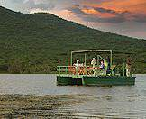 Enjoy water-based game viewing at Lake Jozini in Maputaland.