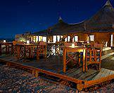 Dine on the edge of the Namib at Kulala Desert Lodge.