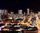 Durban comes alive at night with the twinkling of city lights.