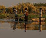 The waters of the delta remain an important source of food for local villagers.