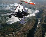 The microlight flight experience is also known as 'the flight of angels'.