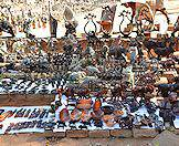 Haggle for a variety of souvenirs and curios at the Victoria Falls Market.