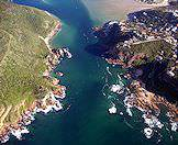 The Knysna Heads guard the lagoon from the waters of the Indian Ocean.
