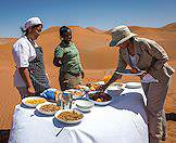 Dine amidst the dunes at Sossusvlei.