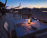 Intimate dining on the edge of the desert at Little Kulala.