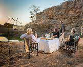 A champagne treat at sunset in Timbavati.