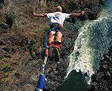 Bungee jump from the Victoria Falls for an adrenalin rush.