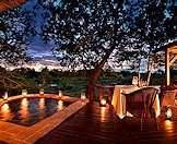 Twilight at Lion Sands Tinga Lodge in the Kruger National Park.