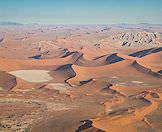 An aerial view of Sossusvlei in Namibia.