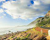 A scenic coasatal road in South Africa's Western Cape province.
