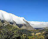 The South-Easter Winds pushes clouds across the facade of the Cape Fold Mountains.