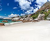The pristine shores of Boulders Beach on Cape peninsula.