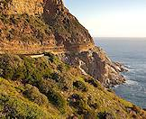 The famous Chapmans Peak Drive on the Cape peninsula.