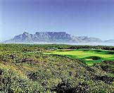 Table Mountain looms above Alantic Beach Golf Course in the background.
