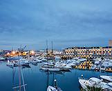 The Cape Grace Hotel overlooks the waterfront's international yacht basin.
