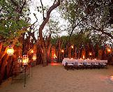 A boma evening at the exclusive Dulini Lodge in the Sabi Sand Private Game Reserve.