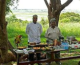 A delectable breakfast spread at Chobe Chilwero.