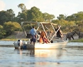 An intimate cruise on the Chobe River.