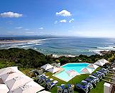 A view of the main swimming pool area at the Plettenberg Park Hotel.