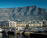 The Victoria & Alfred Waterfront with Table Mountain in the background.