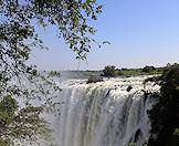 The Victoria Falls in full flood.