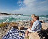 A beach picnic along the wild shores of Arniston.