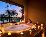 A luxurious bubble bath prepared for a guest at Arathusa Safari Lodge.