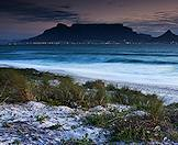 Twilight falls over Table Mountain.