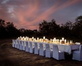 A boma dinner prepared at Arathusa Safari Lodge in Sabi Sand.