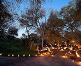 Lanterns lead the way to a boma evening at Lion Sands.