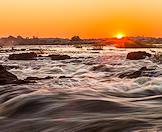 A close-up shot of rapids in the Zambezi River.