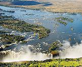 A dramatic view of the Victoria Falls.