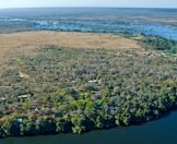 An aerial view of the majestic Zambezi River.
