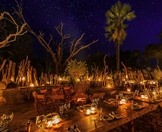 A boma evening at Mombo Camp in the Okavango Delta.