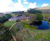 An aerial view of the tranquil Walkersons Country Estate outside of Dullstroom.