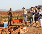 Guests enjoy a refreshment while exploring Damaraland.