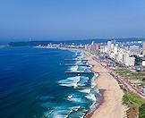 An aerial view of Durban's 'Golden Mile'.
