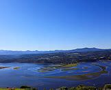 The Knysna Lagoon as seen from atop the Western Head.