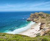 A wild beach in the Cape of Good Hope Nature Reserve.
