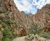 The dramatic Swartberg Pass in the Little Karoo.