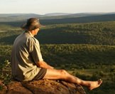 A guest on safari enjoys stunning views of the Lowveld.