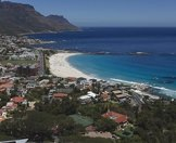 Camps Bay Beach as seen from above.