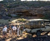 Guests enjoy a morning coffee stop while out exploring the Bushmans Kloof Wilderness Reserve.