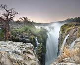 The Epupa Falls are created by the Kunene River that trundles between Namibia and Angola.