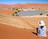 Following particularly rainy seasons, Sossusvlei will occasionally fill up with water.