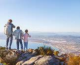 Hiking up Table Mountain is a great activity for fit families who enjoy the outdoors.